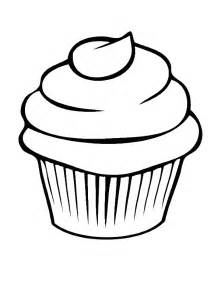 cupcake coloring pages cupcake line drawing cliparts co