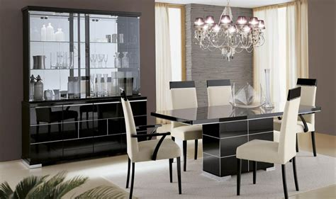 savina black dining furniture high gloss em italia