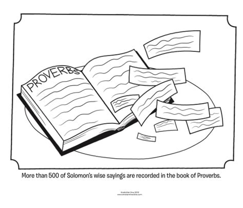 proverbs bible coloring pages what s in the bible
