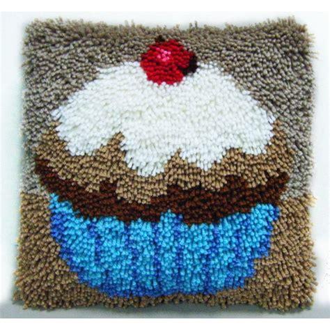 Make A Rug Kit by Hobbycraft Cupcake Latch Hook Kit 30 X 30cm Cushion Cover
