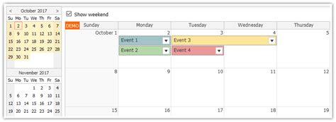 tutorial java html5 tutorial javascript monthly calendar and spring boot