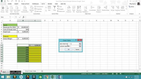 One Variable Data Table Excel 2013 by Microsoft Excel Tutorial One Variable Data Tables