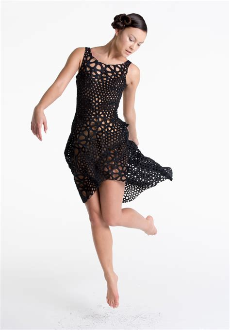 design dress body nervous system kinematics 4d print dress created from body
