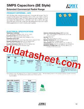 avx capacitor datasheet search se011c107kaa datasheet pdf avx corporation