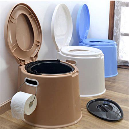 indoor portable toilet meigar portable toilet potty commode flush for the elderly