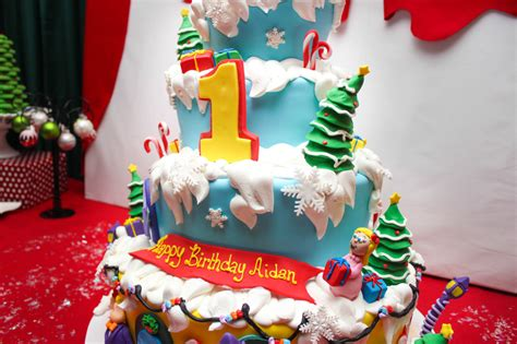 christmas themed 1st birthday party images