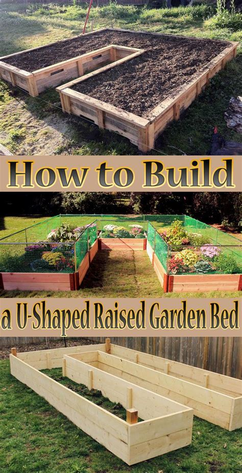 how to make a garden bed how to build a u shaped raised garden bed quiet corner