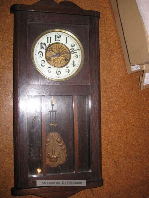 gustav becker uhren wanduhr pendeluhr regulator silesia gustav becker ca 1920