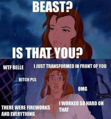 Meme Beauty - 42 beauty and the beast memes that will definitely get the