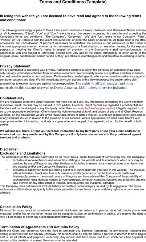 terms and conditions of business free templates terms and conditions template free premium templates forms sles for jpeg png