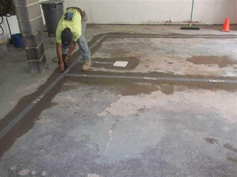 baker s waterproofing basement waterproofing photo album garage floor waterproofed with