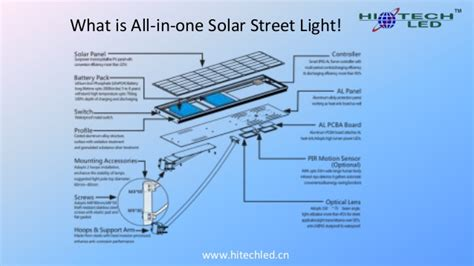 all in one solar light all in one integrated solar light hitechled