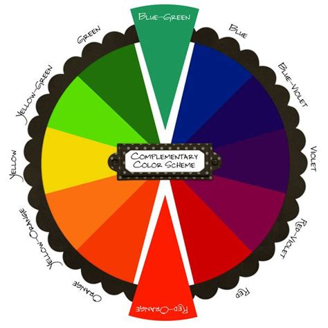 green complementary color color wheel scrapbooking inspiration pinterest