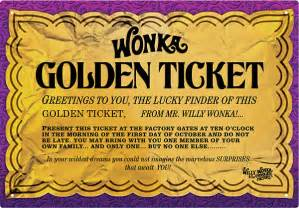 Tin Wall Decor Willy Wonka Golden Ticket Tin Sign Thinkgeek