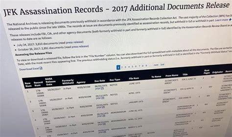 Jfk Documents Release