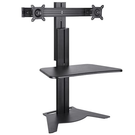 Computer Desk Monitor Stand Adjustable Height Sit Stand Work Computer Monitor Desk Riser Color Opt Ebay