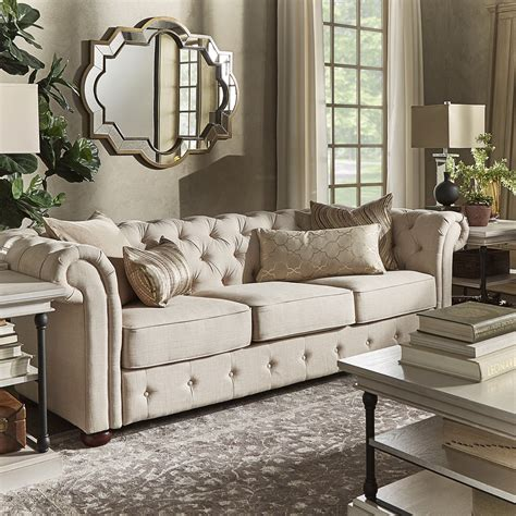 Tufted Sofa Living Room Darby Home Co Toulon Tufted Button Sofa Reviews Wayfair