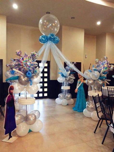 arreglos con globos de frozen decoracion con globos de frozen para fiestas infantiles