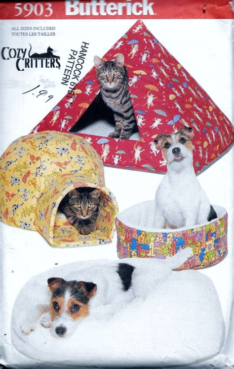 pet beds diy pyramid igloo house for cats and dogs sewing butterick cozy critters cat dog pet bed pillow pyramid
