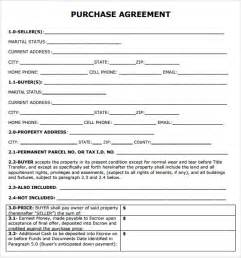 Purchase Agreement Template Free Purchase Agreement 7 Free Samples Examples Format
