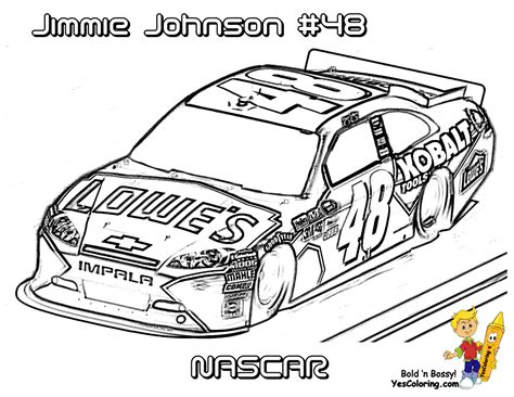 Jimmie Johnson Nascar Car Coloringpage Nascar Coloring Page