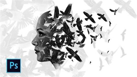 tutorial photoshop double exposure indonesia cara edit foto double exposure burung dengan photoshop