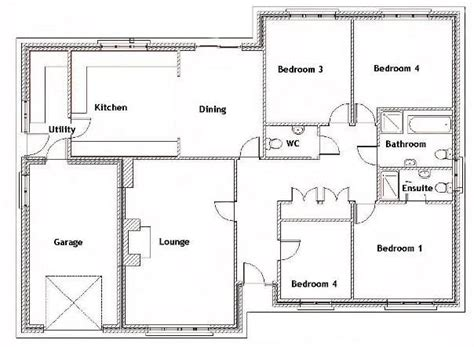 floor plans for a 4 bedroom house 25 best ideas about four bedroom house plans on