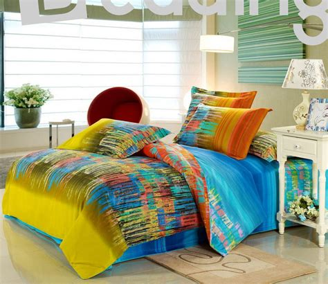 bright bedding collections modern bedroom with green