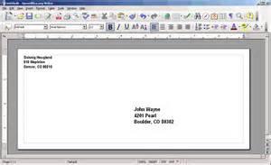 openoffice envelope template open office envelope template