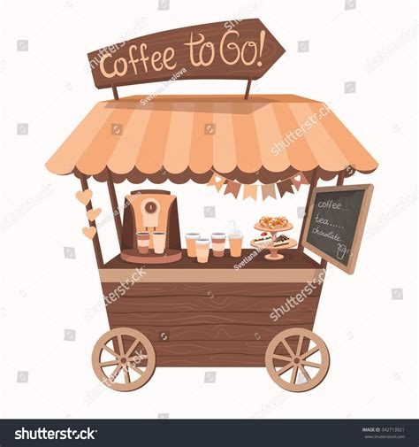 Booth Coffee kiosk booth cafe tent coffee stock vector 342713921