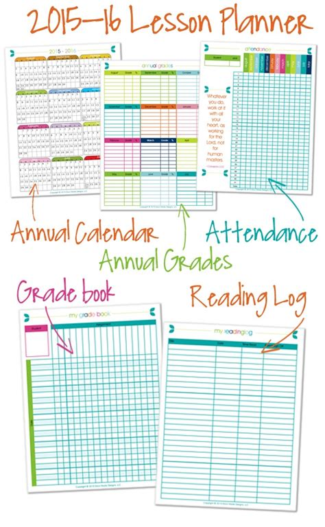 homeschool lesson planner pages 2015 2016 homeschool lesson planner confessions of a