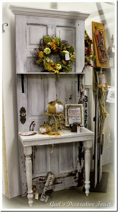 vintage this repurpose that repurpose an door into a potting bench i seen