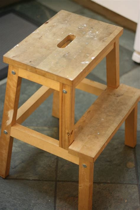 Bekvam Step Stool by From Drab To Fab Bekvam Stool Makeover Hello