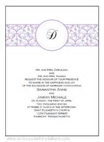 Free Printable Wedding Invitation Templates by Free Printable Wedding Invitations Templates