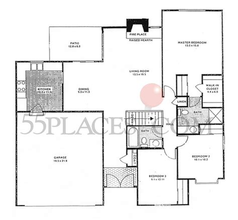 heather gardens floor plans 1372 floorplan 1372 sq ft heather gardens 55places com