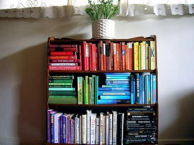 color coordinated bookshelf express o home inspiration colour coordinated bookshelf