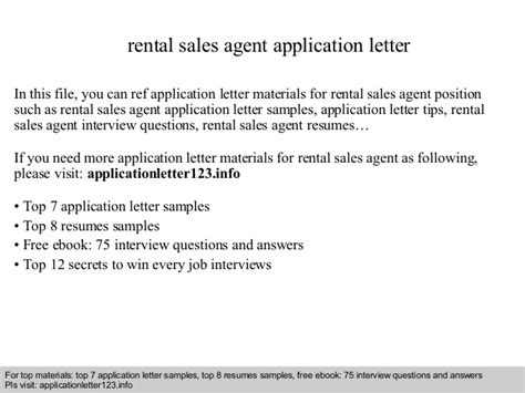 Rental Application Employment Letter Rental Sales Application Letter