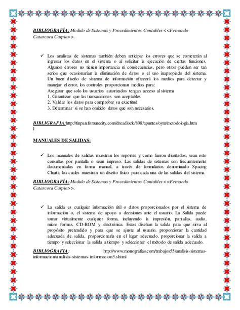 libro sistemas yprocedimientoscontables fernando sistemas y procedimientos contables fernando catacora pdf