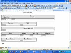 how to create a form template in word how do i fill word form fields with access data