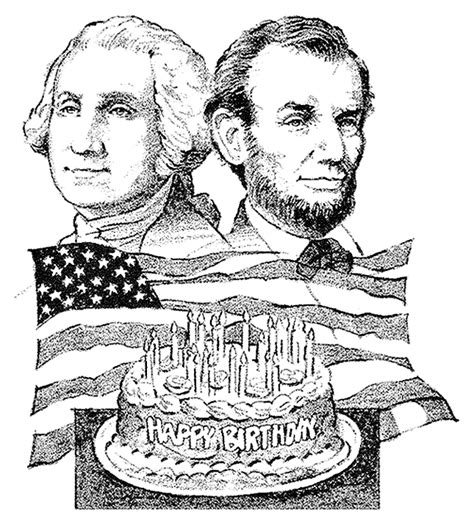 george washington coloring page crayola com happy birthday presidents washington and lincoln