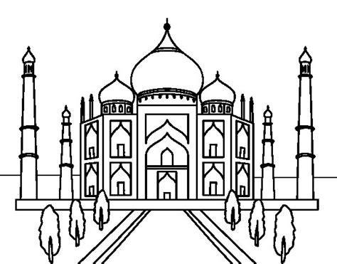 the taj mahal coloring page coloringcrew com