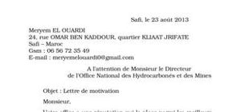 Lettre De Motivation Stage Office Tourisme Lettre De Motivation Office De Tourisme
