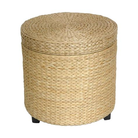 japanese ottoman shop oriental furniture fiber weave coastal natural round