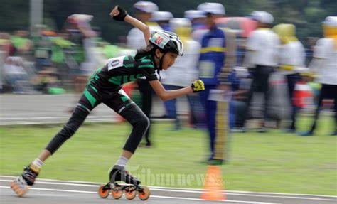 Sepatu Roda Karawang atlet sepatu roda beradu di porda jabar xii 2014 foto 1