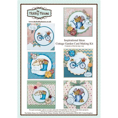 card kits uk the hobby house cottage garden card kit uk