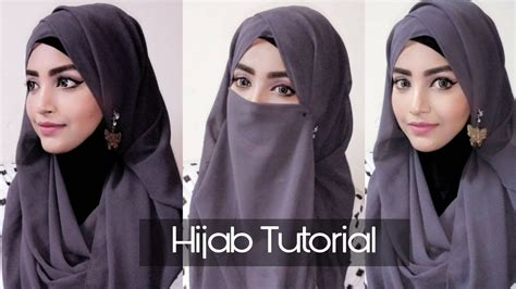 easy hijab niqab tutorial eid special