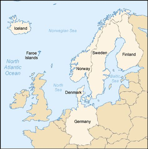 map northern europe countries nlg solutions region information
