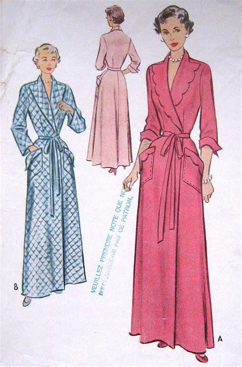 vintage housecoat pattern vintage 1950s bath robe housecoat pattern long evening