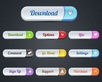 design menu buttons website buttons design with user interface illustration