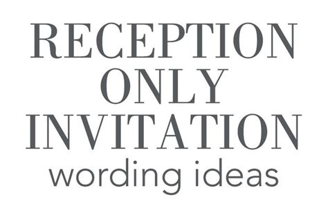 wedding etiquette invitation to reception only 25 best ideas about wedding reception invitation wording on elopement reception